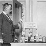 H.C. Case of the Association Against the Prohibition Amendment displaying some of the poisonous liquors obtained from the Chicago Health Department