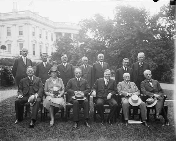 Herbert Hoover with members of the Wickersham Commission, 1929
