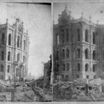 Ruins of the Chicago courthouse after the great fire of October 1871