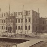 Cook County Jail and Criminal Court Building of Chicago, Illinois, under construction in 1874