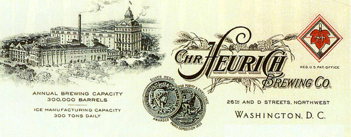 Chr. Heurich Brewing Co. Letterhead