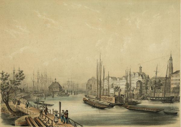 Port of Hamburg, 19th century