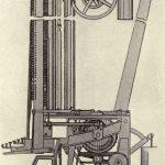 Ottmar Mergenthaler's first band machine of 1883