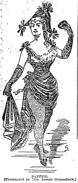 Mathilda Griesedieck as Sappho, 1895