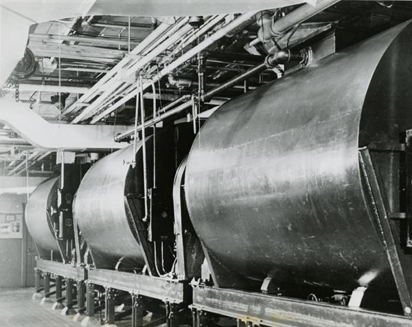 Brach's chocolate tanks, ca. 1947