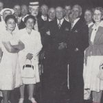 Emil J. Brach with Brach employees at the E. J. Brach and Sons factory, 1946