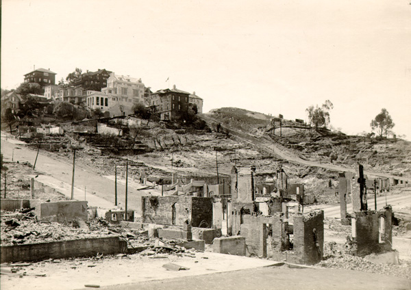 Russian Hill (San Francisco) after the earthquake and fire of 1906