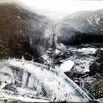 Salmon Creek Dam, under construction, 1913