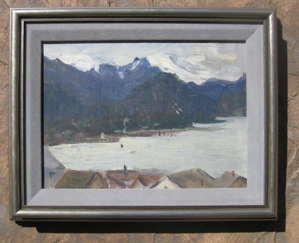 Gertrude Arnstein Wollenberg painting of Alaskan wilderness