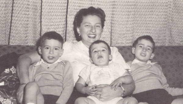Jesselson, Erica with sons Michael, Daniel, and Benjamin, mid-1950s