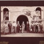 Beringer Brothers with Workers in front of Winery