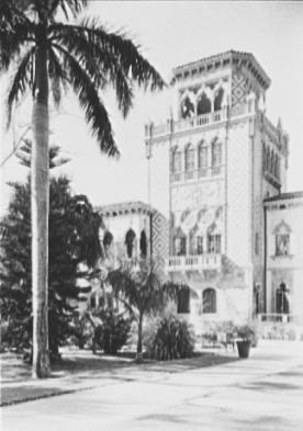 John Ringling's residence in Sarasota, Florida, 1931