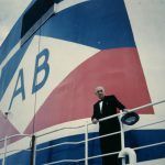 Arnold Bernstein on board the Atlantic, ca. 1957-1959