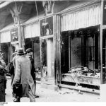 Destroyed store windows of Herrmanns & Froitzheim in Magdeburg on the day after Reichskristallnacht, November 9, 1938