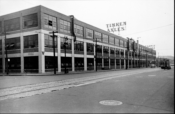 A view showing the exterior of the Timken Axles plant