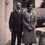 Hans S. Cramer and daughter Charlotte Cramer Samuels, Berlin-Dahlem, ca. 1926