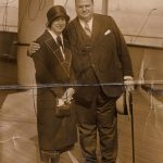 Charlotte Cramer Samuels and Donald Samuels, aboard the S.S. Reliance en route from Hamburg to New York, October 1924