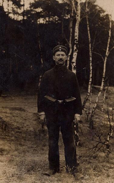 Hans S. Cramer, World War I army recruit, 1916