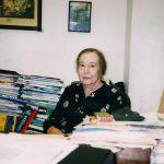 Charlotte Cramer Sachs in her office, ca. 2000
