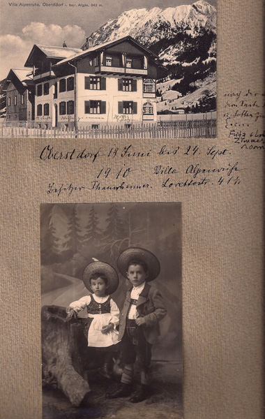 Charlotte and Fritz Cramer on holiday in Oberstdorf (Bavaria), ca. 1910