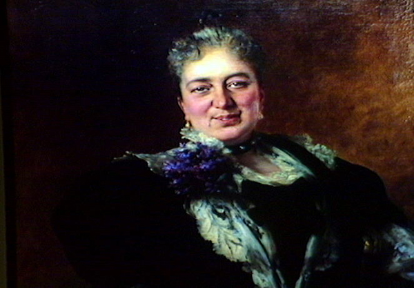 Anna Pfizer, the wife of Charles Pfizer, ca. 1896