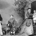 Charles Pfizer and family during a visit to Stuttgart, Germany, ca. 1870