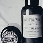 Bottles of tartaric acid produced by Pfizer, ca. 1862