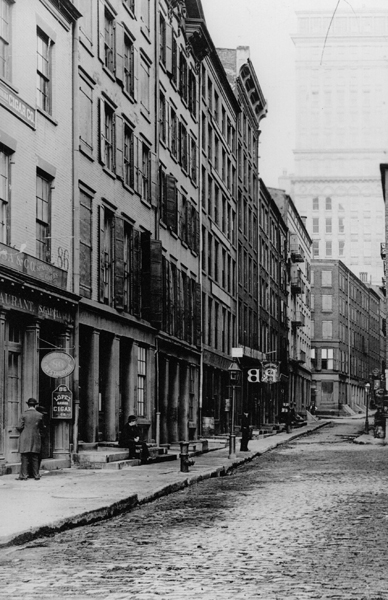 Pfizer home office on Maiden Lane and Liberty Street, ca. 1887