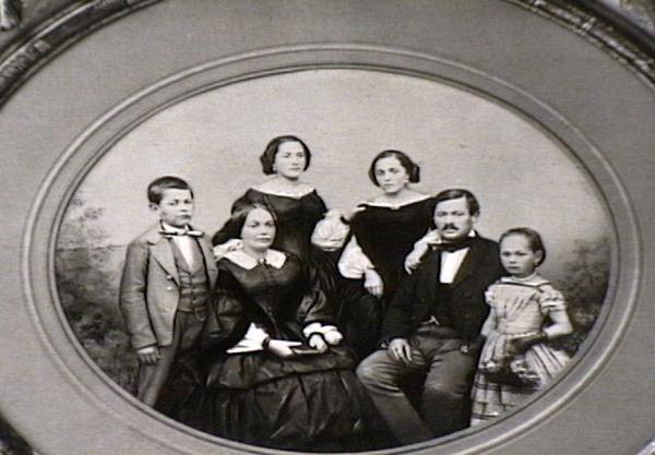 Erhart family portrait, ca. 1870
