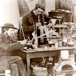 Pfizer scientists and equipment, ca. 1855