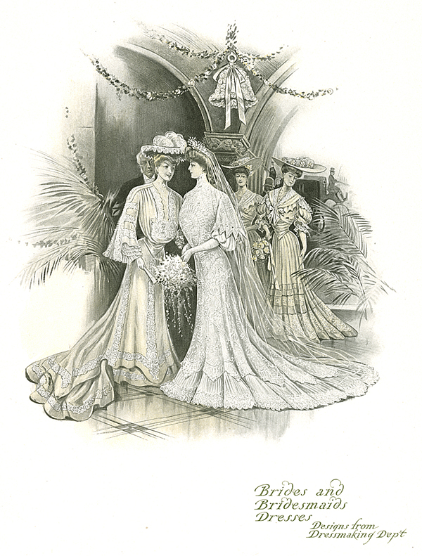 Bride and Bridesmaids Dresses, B. Altman & Co. Book of Styles, 1904
