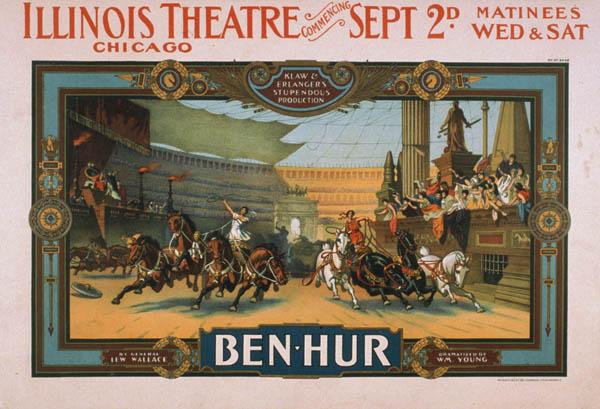 Ben-Hur Poster, Chicago, 1901