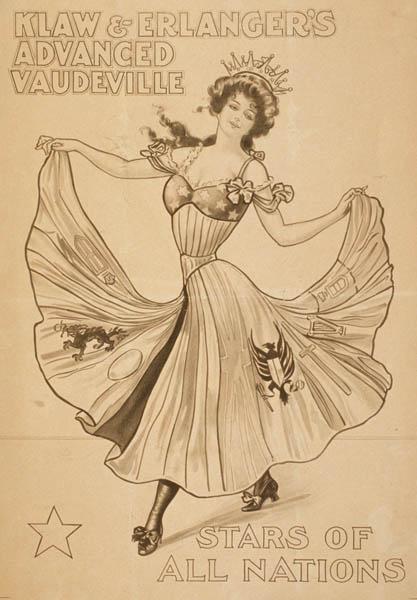 Klaw & Erlanger Advanced Vaudeville Poster, 1907