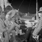 Albert Einstein and wife Else with Ernst Lubitsch and Samuel Untermyer at Palm Springs. March 1, 1933