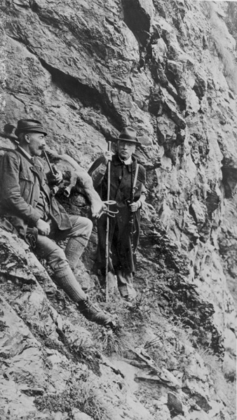 Edward A. Filene in the Austrian Alps shortly before his death, 1937