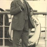 Edward A. Filene aboard the RMS Mauretania, October 1926