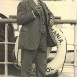 Edward A. Filene aboard the RMS Mauretania, October 1926