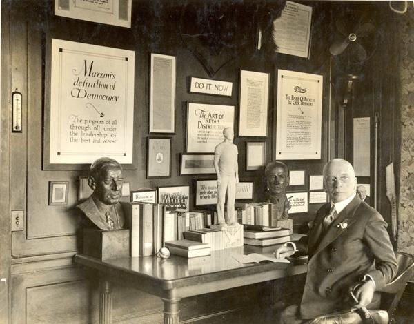 Edward A. Filene in his office, 1934