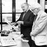 Otto Bettmann and editor Manley Stolzman, ca. 1970s