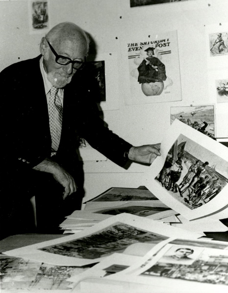Otto Bettmann selecting photos, n.d.