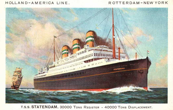 TSS Statendam, the ship with which Otto Bettmann arrived in the United States in 1935