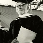 Otto Bettmann receiving an honorary doctor of the humanities from Florida State University, 1979