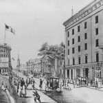 Astor House Entrance, New York City, 1847