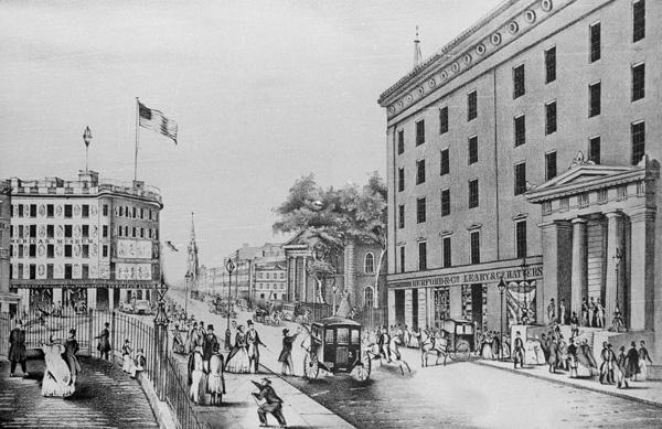 Astor House Entrance, New York City, 1847