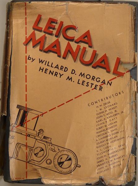 Leica manual given to Otto Bettmann