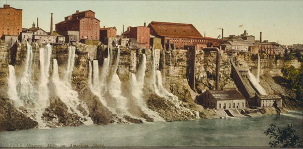 Mills along the American side of the Niagara River, ca. 1900