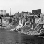 Mills along the American side of the Niagara River