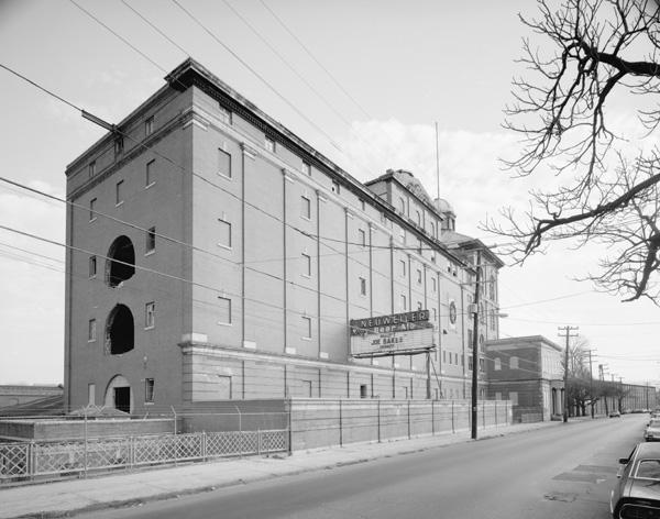 Germania Brewery front facade in Allentown, Pennsylvania