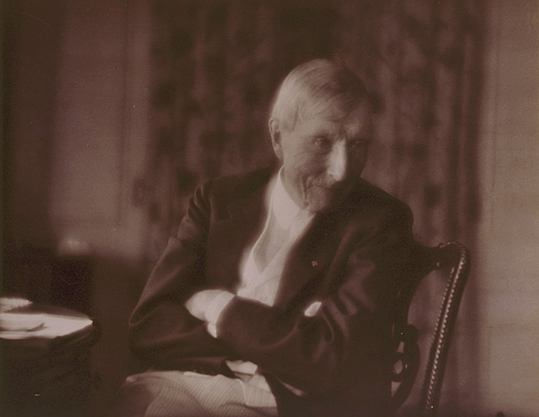 John D. Rockefeller, Sr., half-length portrait, seated, 1918