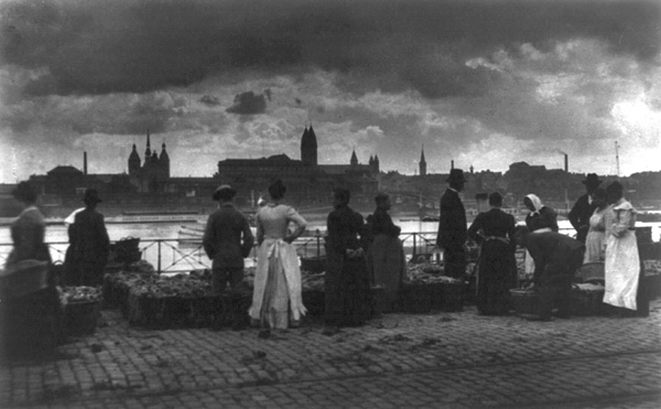Germany: Looking across the Rhine from Cologne